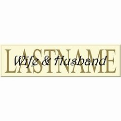 Custom Couple's Last Name Sign