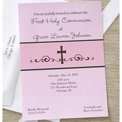Precious Prayers Personalized Girl's Communion Invitations