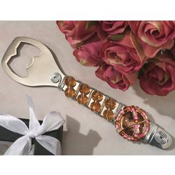Murano Art Deco Bottle Opener with Pink Bead Design