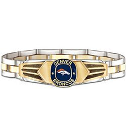 NFL Denver Broncos Stainless Steel Men's Bracelet