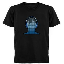 DJ echno Blue Headphones Tee
