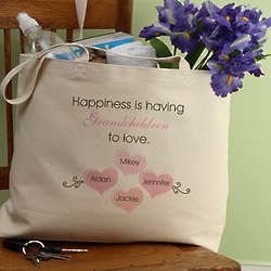 What is Happiness Personalized Tote Bag