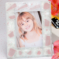 Murano Pink Frosted Finish Picture Frame