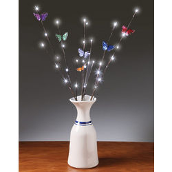 Butterfly LED Light Branches with Timer Decoration