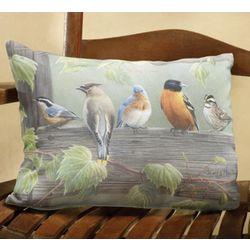 Backyard Birds Outdoor Pillow