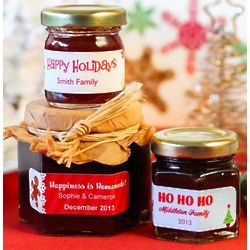 Personalized Holiday Jelly Jars