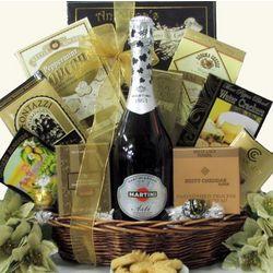 Elegant Expressions Martini & Rossi Sparkling Wine Gift Basket
