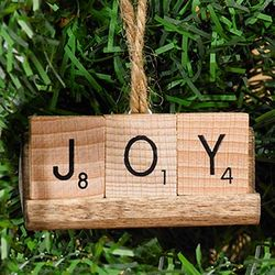 Joy Scrabble Tile Ornament