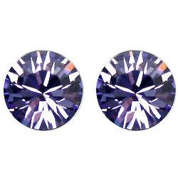 Large Purple Swarovski Elements Crystal Stud Earrings