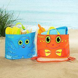Personalized Sea Critter Tote Bag