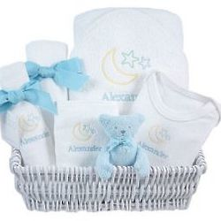 Lullaby Blue Luxury Baby Gift Basket