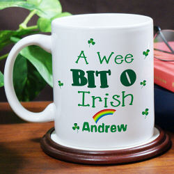 A Wee Bit O' Irish Personalized Coffee Mug