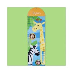 Personalized Zoo Animals Growth Chart