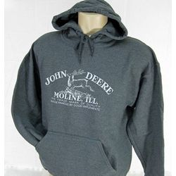John Deere Gildan Heavy Blend Dark Gray Hoodie with 1912 Logo