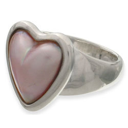 'Valentine' Pearl Heart Ring