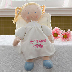 Blonde Angel Personalized Doll