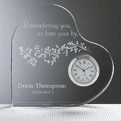 Personalized Remembering You Memorial Clock
