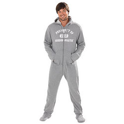 Gray Varsity Hoodie Footieao for Men