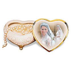 Princess Catherine Royal Wedding Heart-Shaped Music Box
