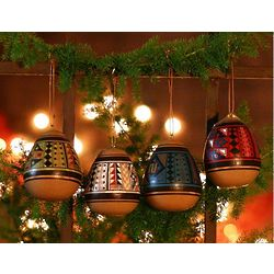 Peruvian Ceramic Holiday Ornament Set
