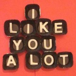 I Like You A Lot White Chocolate Gift Box