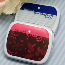 Personalized Bar and Bat Mitzvah Party Mint Tins