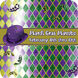 Personalized Mardi Gras Coasters