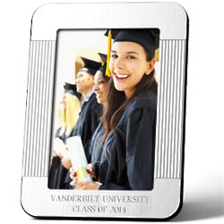 Personalized Engraved Silvertone Picture Frame
