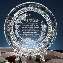 Friendship Poem Plate