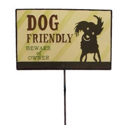 Dog Friendly Garden Stake Sign