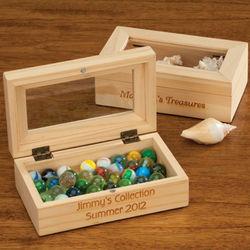 Personalized Hinged Wooden Keepsake Box