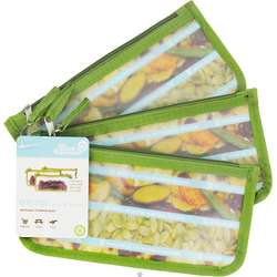 Kiwi Solid Reusable Zip Snack Bags