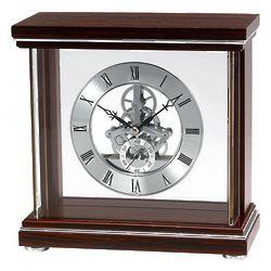 Bulova Milan Table Clock with Mahogany Stained Finish