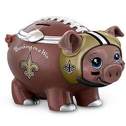 New Orleans Saints Porcelain Football Piggy Bank