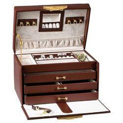 Medium Parisian Leather Jewelry Box with Lock