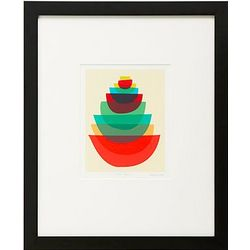 Bowl Stack Art Print