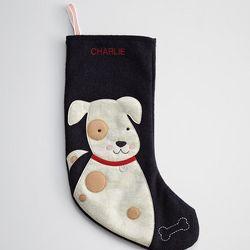 Personalized Felt Dog Holiday Stocking