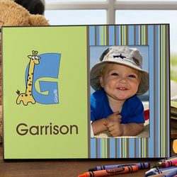Boy's Alphabet Animals Personalized Frame