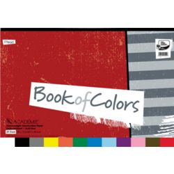 Academie Book of Colors Construction Paper