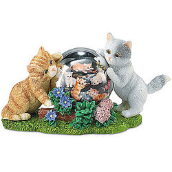 At the Little Waterfall Kitten Figurine