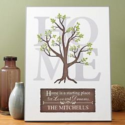 Family Tree Personalized Wood Plaque