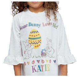 Personalized Some Bunny Loves You Nightshirt