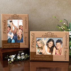 Personalized Friends Circle of Trust Wooden Picture Frame