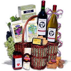 Ravenswood Duo Wine Party Picnic Gift Basket
