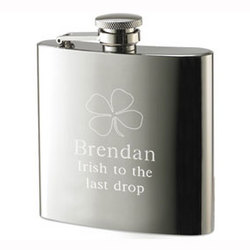 Personalized Four-Leaf Clover Stainless Steel Flask