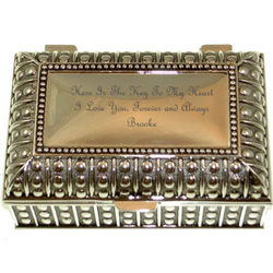 Engravable Silver Plated Key To My Heart Keepsake Chest