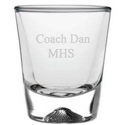 Personalized Football Shot Glass