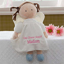 Personalized Dolls - Brunette Angel