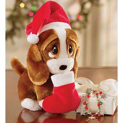 Christmas Sad Sam Plush with Charm Bracelet