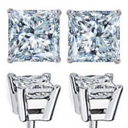 0.75 Carat Diamond Stud Earrings